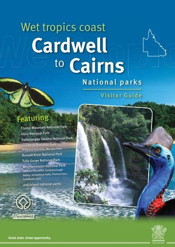 Wet tropics coast Cardwell to Cairns national parks visitor guide