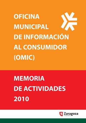 Memoria de Actividad 2010. Oficina Municipal de Información al ...