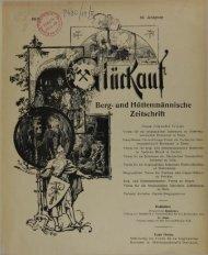 Berg- und Hüttenmännische Zeitschrift