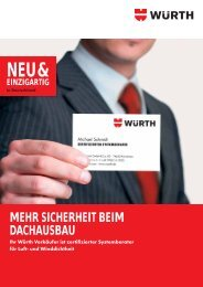 Flyer Zertifizierter Systemberater - Würth
