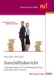 Geschäftsbericht - Frauen-Union der CDU-NRW