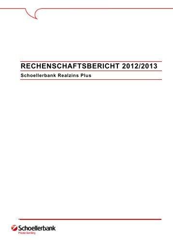 RECHENSCHAFTSBERICHT 2012/2013 - Schoellerbank