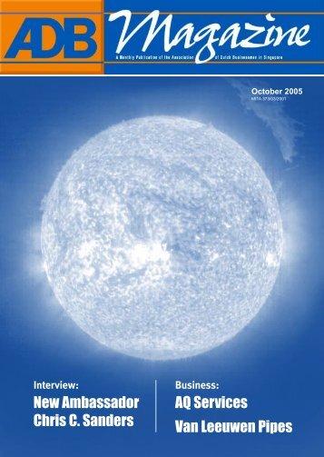 October 2005 - Association of Dutch Businessmen