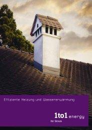 Broschüre Effiziente Heizung und Wassererwärmung (663 KB pdf