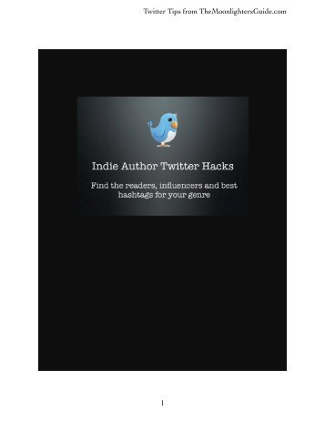 Twitter Tips from TheMoonlightersGuide.com - The Moonlighter's ...