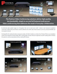 POSITRON The Positron Video Conferencing solutions ... - IPChitChat