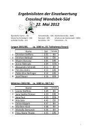 Ergebnis Einzelwertung - Schulsport-Hamburg.de