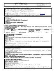 SAUGOS DUOMENŲ LAPAS Pagal Reglamentą (EB) Nr.1907/2006 ...