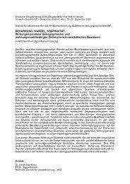 Beharrung, Wandel, Kontinuität […] (Abstract) (Annett Steinführer)