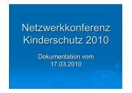 Kinderschutz: 4. Dokumentation vom 17.03.2010 - Landkreis Alzey ...