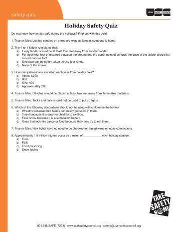 5 Minute Safety Briefs