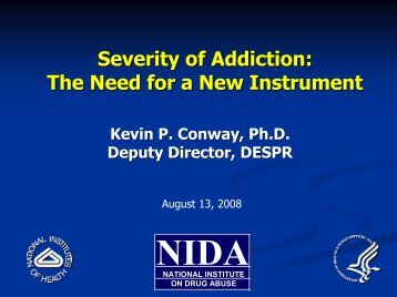 Severity of Addiction - UCLA Integrated Substance Abuse Programs