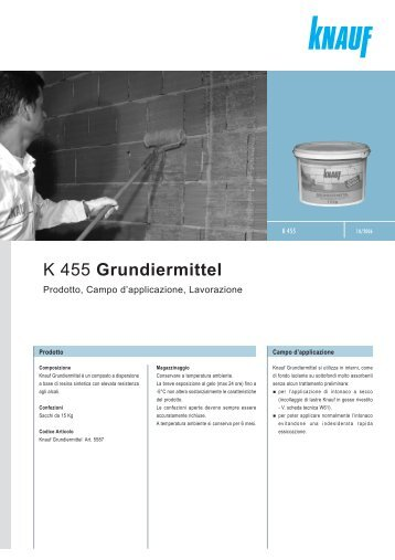 K 455 Grundiermittel - Knauf