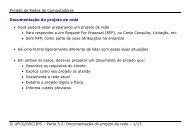 Documentação do projeto de rede - Departamento de Sistemas e ...