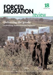 Forced Migration Review - Fritz Institute
