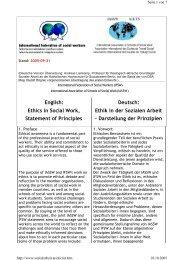 Ethics in Social Work, Statement of Principles Ethik in der Sozialen ...