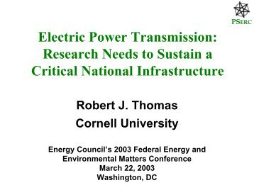 Electric Power Transmission - Power Systems Engineering ...