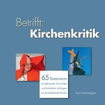 Betrifft: Kirchenkritik - Katholisches Dekanat Pforzheim