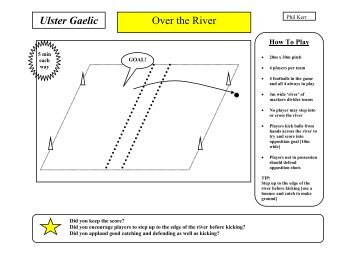 Coaching Card – Over the River - Ulster GAA