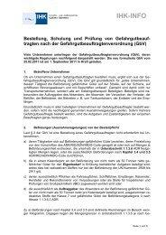 Gefahrgut Merkblatt - LasiPortal.de