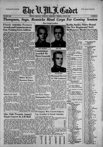 The Cadet. VMI Newspaper. June 15, 1954 - New Page 1 [www2 ...