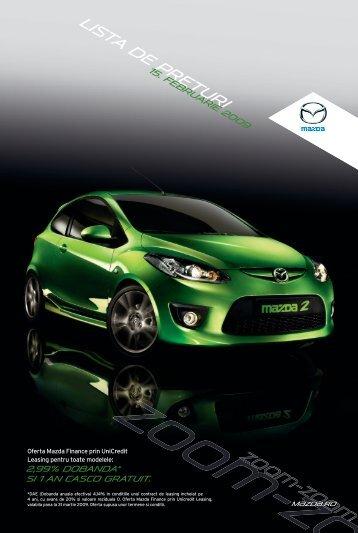 Lista de preturi - Mazda