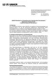 Afghanistan: Richtlinien zur Feststellung des internationalen ... - unhcr