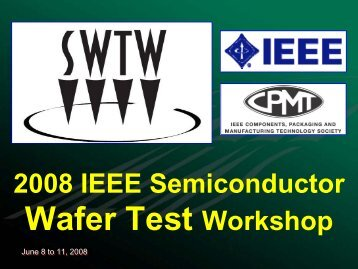 Probe Year In Review - Semiconductor Wafer Test Workshop
