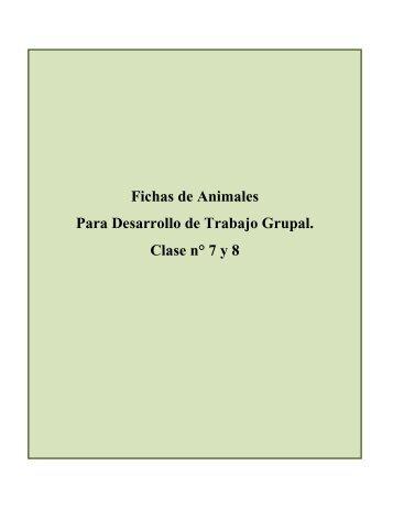 Fichas de Animales Para Desarrollo de Trabajo Grupal ... - Smartienda