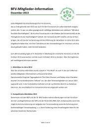 BFV-Mitglieder-Information Dezember 2013
