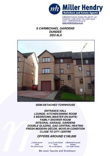 6 carmichael gardens dundee dd3 6lx offers around £190000 - TSPC