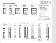 Typenübersicht Serie 800 LUZERN - Leinkenjost