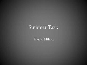 Summer Task - Mariya Mileva