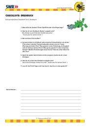 Checkliste: Drehbuch - Kindernetz