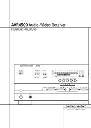 AVR4500Audio-/Video-Receiver - Aerne Menu