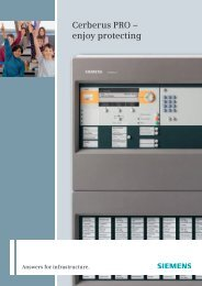 Cerberus PRO – enjoy protecting - Siemens