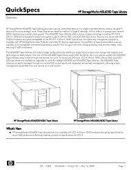 HP StorageWorks MSL6000 Tape Library - Server-Unit