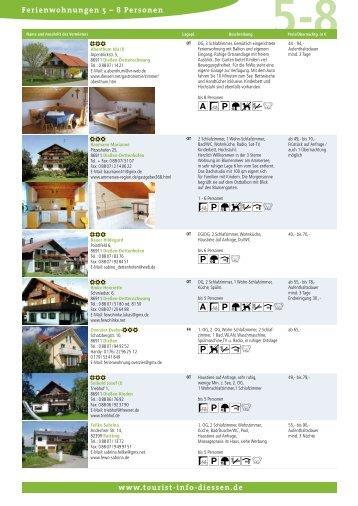 Ferienwohnungen 5 - Tourist-Info-Diessen am Ammersee