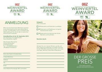 OEGZ_WV_Award_2010_Folder [PDF/3143.22kB] - Weinviertel DAC