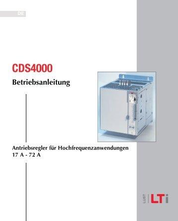 CDS4000 Antriebsregler für ... - DEIRING Gmbh