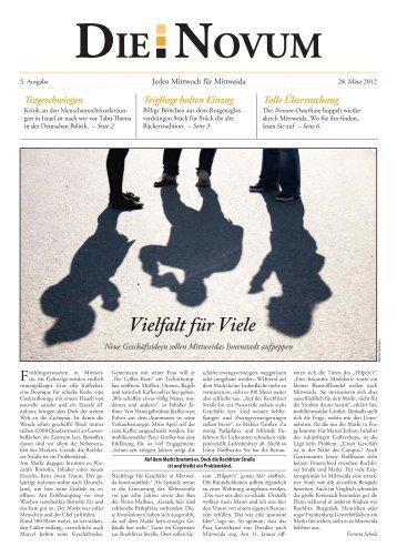Solidaritätsbekundungen erwünscht – Kritik verboten! - DIE NOVUM