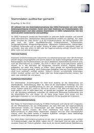 Stammdaten auditierbar gemacht - DE software & control Gmbh