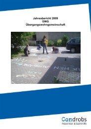 Jahresbericht 2009 ÜWG Übergangswohngemeinschaft