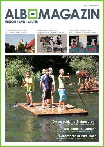 Alb Magazin - Ausgabe Kispel Lauter 2/2013
