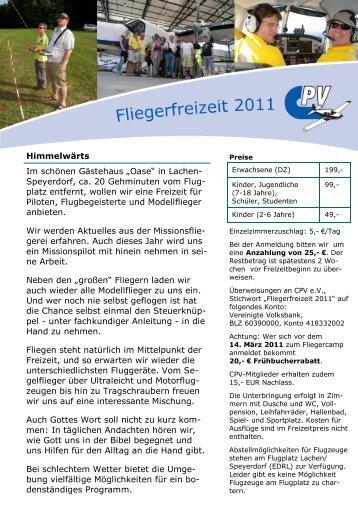 Speyerdorf, ca. 20 Gehminuten vom Flug- platz ... - Christlicher Piloten