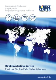 Direktmarketing-Service - beim Direct Center Knoll