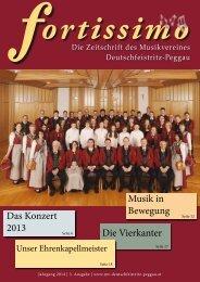 3. Auflage Fortissimo - Die Zeitschrift des Musikvereins Deutschfeistritz-Peggau