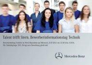 Bewerberinfotag Technik - Daimler