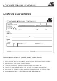 Fahrschein in / out DE - Container Terminal Dortmund Gmbh
