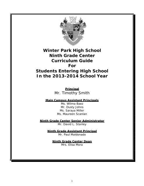 sports physical form ocps  Freshman Curriculum Guide 8-8 - Orange County Public ...